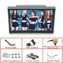 10.1'' 2DIN Rotatable Android 9.1 Touch Screen Quad Car Stereo GPS Wifi 2+32G