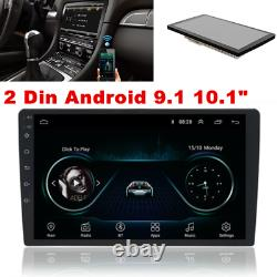 10.1 Android 9.1 Double 2Din Car Stereo Radio Wifi GPS OBD2 Mirror Link Player