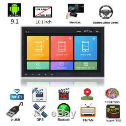 10.1 Android 9.1 Single 1Din Car Stereo Radio GPS Wifi OBD2 Mirror Link Player