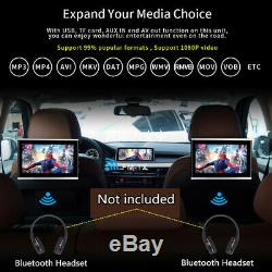 10.1 HD Android 7.1 Car Seat Headrest DVD Player Monitor Speaker Quad Core WIFI