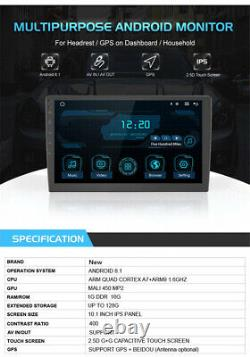 10.1'' INCH Android 8.1 Car Rear Seat Monitor Display Multimedia MP5 Player Wifi