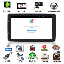 10.1in Double 2 DIN Android 8.1 Car Stereo BT 4G Radio GPS Navigation Head Unit