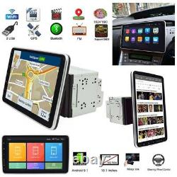 10.1inch 2DIN Rotatable Android 9.1 Touch Screen Quad Car Stereo GPS Wifi 1+16GB
