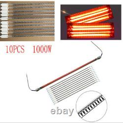 10x 1000W Spray/Baking Booth IR Infrared Paint Curing Lamps Lights Heating Tubes