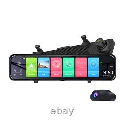 12 Inch Touch Screen Android 8.1 4G Wifi GPS Car DVR WDR Camera Video Dash Cam