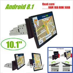 1Din Rotatable Android 8.1 10.11080P Quad-core RAM1GB ROM 16GB Car Stereo Radio