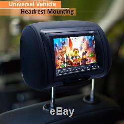 1X Whole 7 Car Headrest TFT DVD Player USB IR Remote Game Headphone Cable Plug