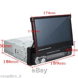 1 DIN Single 7 HD Touch Screen Car MP5 DVD Player Bluetooth Radio WithGPS FM AUX