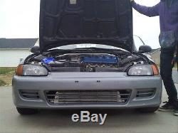 29.5 x11x 2.5 2.5' IN/OUT BAR& PLATE ALUMINUM TWIN TURBO FRONT MOUNT INTERCOOLER