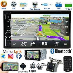 2DIN Car STEREO DVD FM USB MIRROR LINK FOR GPS RADIO BLUETOOTH With BACK UP CAMERA