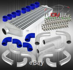 2.5 Diy Turbo Charger Intercooler + 12Pc Piping Pipe Kit T-Bolt Clamps Couplers