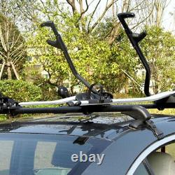 2×Universal Car SUV Roof Rail Luggage Rack Baggage Carrier Cross Aluminum 110cm