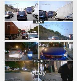 4CH 360° Car Mobile DVR Security Video Recorder +4 CCD Cameras+4CH LCD Monitor
