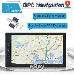 4-Core Android WIFI 7 Double 2 DIN Car Radio Stereo Player GPS Bluetooth + CAM