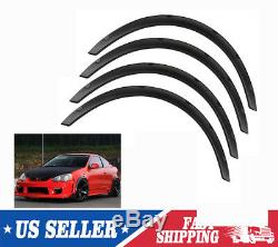 4pcs 2 Fender Flares Over Wide Body Kit Wheel Arches Universal Durable ABS