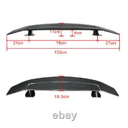 52 INCH Car Trunk Spoiler Wing with Tape Reflector 3D Carbon Fiber Style Universal