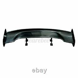 57 Universal Real Carbon Fiber Car Rear Trunk Spoiler Wing Adjustable GT Style