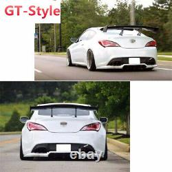 58'' Car GT-Style Trunk Spoiler Tail Body Wing Kit Glossy Carbon Fiber Look USA