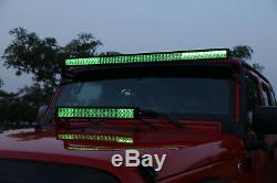 5D 52inch 1000W CREE LED Light Bar Multicolor Bluetooth Offroad CAR UTE 50
