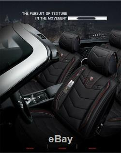 6D Fully surrounded Car Seat Cover Microfiber Leather+Sponge 5 Seat Cushion