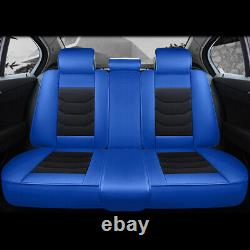 6D Leather Car Seat Cover Universal 5-Seats SUV Front Rear Protector Cushion Set
