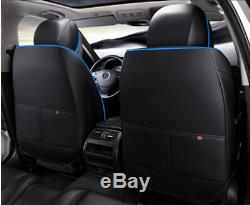 6D Surround Car 5-Seat Cover Seat Cushion Breathable Luxury Microfiber Leather