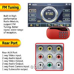 6.2' 2Din Car Stereo Radio CD DVD Player BT Mirror Link For GPS with Rear Camera