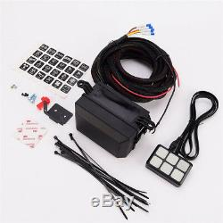 6 Key LED Switch Control Panel Relay Box Wiring Harness Truck Boat with Sticker
