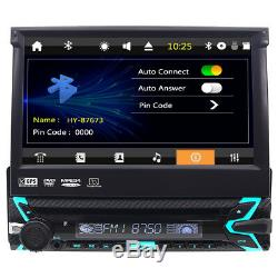 7''1Din Flip Out Stereo Radio GPS Navigation Car DVD Player Headunit Video IPOD