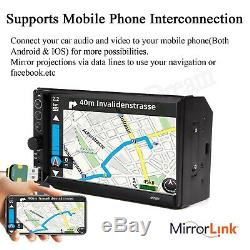 7 Car Radio MP5 Stereo Multi-Player Mirrors For Android IOS GPS Navigation US