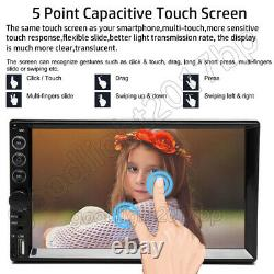 7'' Double 2DIN Car Radio Video Stereo FM Camera Mirror Link for GPS Android iOS