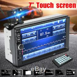 """7/"""" Double 2 Din Touch Screen Car MP5 MP3 Player Bluetooth Stereo FM Radio+Camera"""