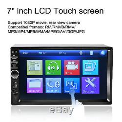 7 Double 2 Din Touch Screen Car MP5 MP3 Player Bluetooth Stereo FM Radio+Camera