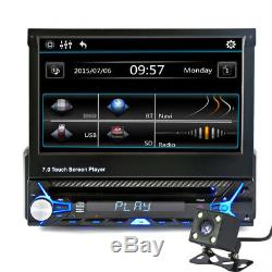 7''HD Touch Screen 1DIN Bluetooth Car MP5 Player Stereo Radio FM USB with Camera