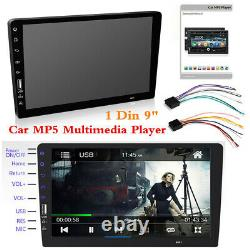 9 1Din Touch Screen Car MP5 Player Bluetooth Stereo FM Radio Mirror link USB/TF