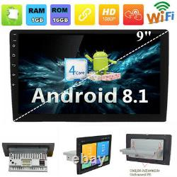 (Android 8.1) 9 GPS Car Stereo Radio WiFi 3G 4G BT Single 1 Din Mirror Link