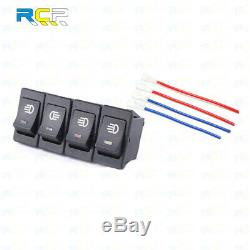 BLUE 4-Pins LED ON/OFF Rocker Switch For Driving Fog Lamps / Light bar Indicator