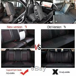 Black SUV/Auto 5 Seats Car Seat Cover Protector withCunsions+Headests PU Leather
