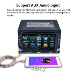 Bluetooth HD In Dash Car CD DVD Player Stereo FM Radio 6.2 Double DIN GPS Maps