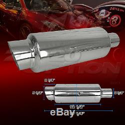 Burnout Stainless Steel Exhaust Muffler For Acura Audi Bmw Chevy Dodge