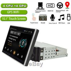 Car Stereo Bluetooth MP5 10.1'' 1DIN Radio FM AUX Adjustable Screen Android 9.1