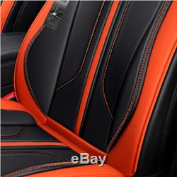 Comfortable Microfiber Leather 6D Surround Seat Cover Cushion For 5 Seat Car