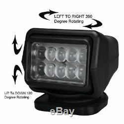 Cree LED 50W With Remote Control Search Light Spot Rotating Magnetic Offroad SUV