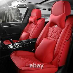 Deluxe 5-Seats SUV Car Seat Covers Front Rear PU Leather Cushions Set For Toyota