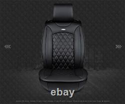 Deluxe PU leather Car Seat Cover Full Front+Rear Seat Cushion 3D Surround Black