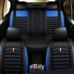 Deluxe Sit Covers Car 5-Seat Front Rear Interior Leather Full Universal Cushion