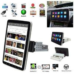 Double 1DIN Rotatable 10.1'' Android 9.1 Touch Screen Car Stereo Radio GPS Wifi