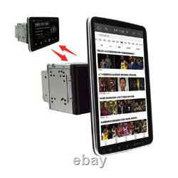 Double 2DIN Rotatable 10.1'' Android 9.1 Touch Screen Car Stereo Radio Wifi GPS
