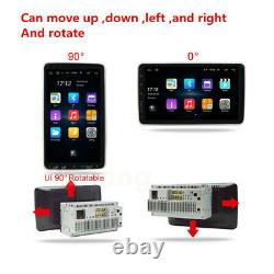 Double 2DIN Rotatable 10.1'' For Android 9.1 Touch Screen Car Radio GPS Wifi
