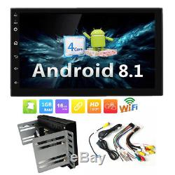 Double 2 DIN Android 8.1 7 Touch Car GPS Stereo Radio Quad Core Player +Bracket